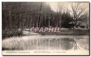 Old Postcard Bains Les Bains (Vorges) Lake in Pare