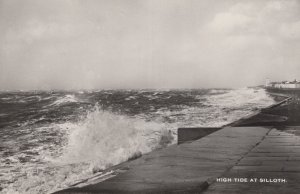 High Tide At Silloth Disaster Weather Cumbria Real Photo Postcard