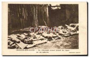 Postcard Modern Army Oradour sur Glane The Germans had piled fagots on the bo...