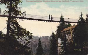 VANCOUVER, British Columbia, Canada, 1900-1910's; Suspension Bridge, Capilano Ca