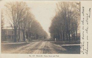 RP: MORRISVILLE , New York , 1908 , Eaton Street &Park