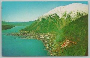 Juneau Alaska~Along Gastineau Channel In Tongass Nat'l Forest~Vintage Postcard