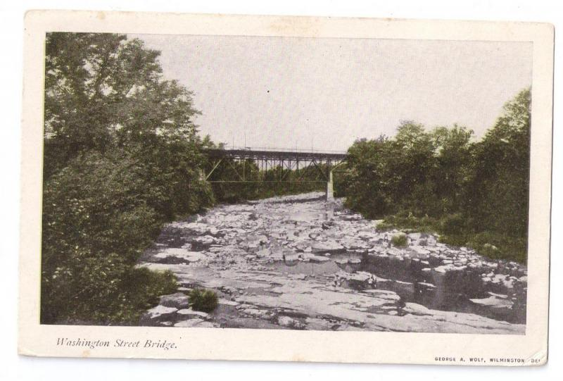 Washington Street Bridge Wilmington DE UDB Postcard