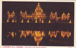 Night Lights on the Parliament Buildings, VICTORIA, British Columbia, Canada,...