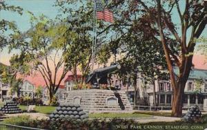 Connecticut Stamford West Park Cannon