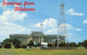 OK - Oklahoma City. Capitol, Oil Wells