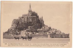 France, Le Mont Saint-Michel, 1939 used Postcard