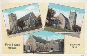HENDERSON , North Carolina, 1900-10s ; First Baptist Church