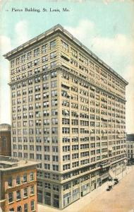 St Louis Missouri~Pierce Building~Now Adams Mark Hotel~1910 Postcard