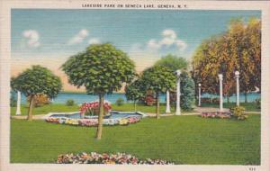New York Geneva Seneca Lake Lakeside Park 1944