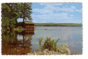 Cabin on Lake, Maine Vacationland, Photo by Free Lance Photographers Guild
