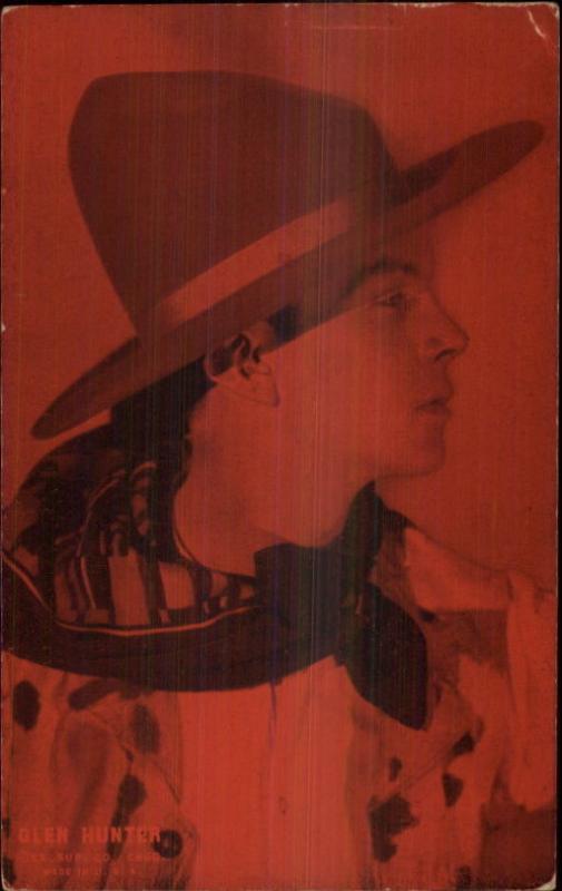 Cowboy Actor Glen Hunter - Mutoscope Arcade Card / HipPostcard