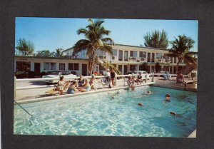 FL Sir Herbert Apartment Apt Motel Pool Miami Beach Florida Postcard Kassel
