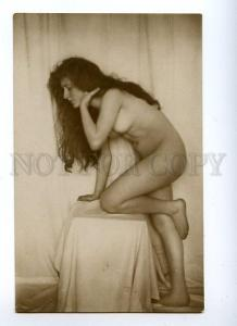 128996 NUDE Woman LONG HAIR Vintage Lotte HERRLICH PHOTO PC