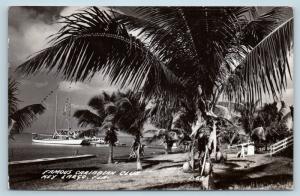 Postcard FL Key Largo Famous Caribbean Club c1940s RPPC Real Photo B07