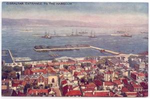Early  Greetings OILETTE PC, GIBRALTAR, Entrance To The Harbour, RAPHAEL TUCK