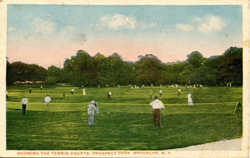 NY - New York City. Brooklyn, Prospect Park, Tennis Courts