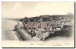 Old Postcard The Ault Beach