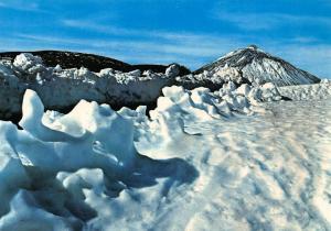 Spain Tenerife El Teide Mountain Winter Landscape Postcard