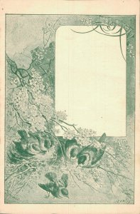 Artist Signed Art Nouveau Birds November More Months Postcard Lot of 5 01.13