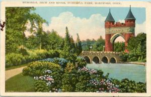 CT - Hartford. Memorial Arch in Bushnell Park