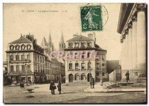 Old Postcard Caen Place Fonlette