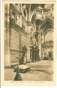 Italy, Certosa di Pavia, Tempio, Navata traversale