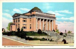 Virginia Lynchburg Jones Memorial Library 1945 Curteich