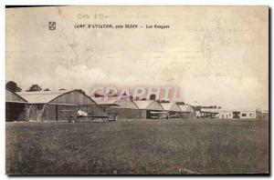Old Postcard Jet Aviation Camp & # 39aviation near Dijon Hangars
