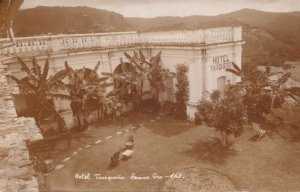 Hotel Taxqueno Mexico Real Photo Old Postcard