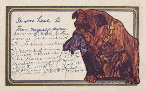 Bulldog It was hard to tear away , 1907
