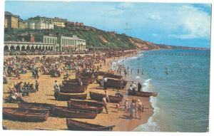 UK, East Beach and Cliffs, Bournemouth, 1965 used Postcard