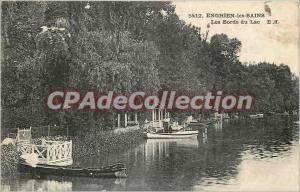 Old Postcard Enghien les Bains Lake Edges