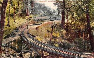 California Train Postcard Crossing a Canyon Unused