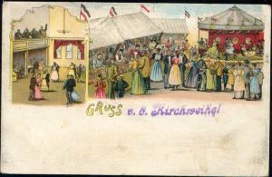 Carnival Funfair Kermis, Dancing, Merry-go-Round (1905)