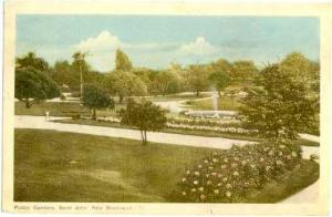 Public Gardens, Saint John, New Brunswick, Canada, 1949? White border