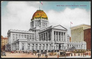 Post Office Building Chicago Illinois Used c1914