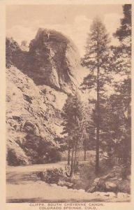 Colorado Colorado Spring Cliffs South Cheyenne Canon Albertype