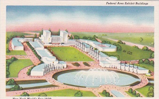 New York World's Fair 1939 Federal Area  Exhibit Buildings