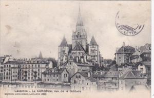 Switzerland Lausanne La Cathedrale vue de la Solitude 1909