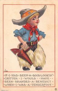 Bernhardt Wall~Little Boy Cowboy~Furry Chaps~Gun~Good Lookin Critter~Tenderfoot