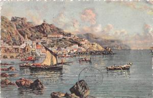 Italy Old Vintage Antique Post Card Veduta Generale Amalfi 1927