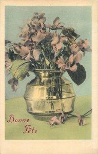 Postcard Greetings flowers bonne fete