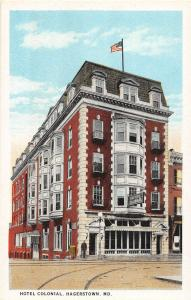 D93/ Hagerstown Maryland Md Postcard c1910 Hotel Colonial Building