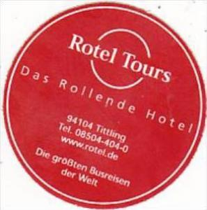 GERMANY TITTLING ROTEL TOURS HOTEL VINTAGE LUGGAGE LABEL