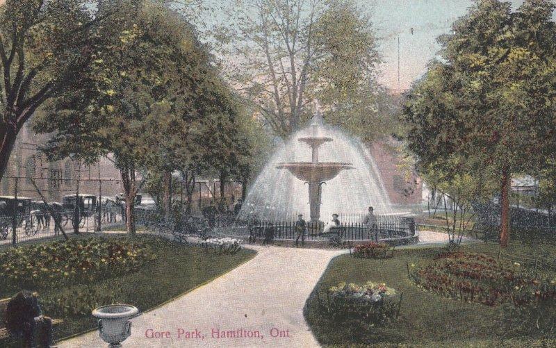 HAMILTON, Ontario, Canada, 1900-1910s; Gore Park, Fountain