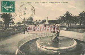 Nice Old Postcard Public Garden Fountain of the Tritons