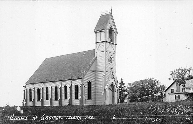 Chapel at Squirrel Island ME Eastern Illustrating Publisher RPPC Postcard