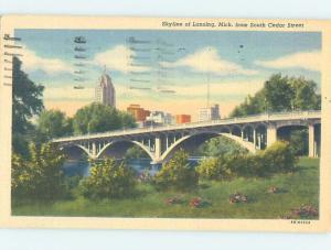 Linen PANORAMIC VIEW Lansing Michigan MI i1239