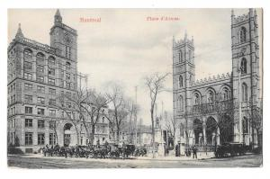 Canada Montreal Place d'Armes Notre Dame Cathedral Postcard